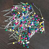 Straight Pins Round Head Colorful Pearl Corsage Dressmaking Sewing Pin