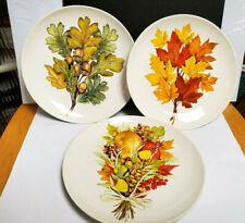 New listing Set of( 3) Mary Lake-Thompson Fall Leaves Salad Plates 8'' Unused