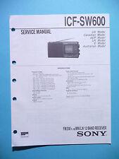 Service Manual-Anleitung für Sony ICF-SW600  ,ORIGINAL