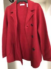 NWT Lord & Taylor wool jacket light coat red double breasted BLAZER Size S