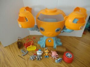 VHTF Octonauts Octopod Mattel Complete w/4 Figures,vehicle,Chest, sea creature