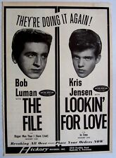 BOB LUMAN & KRIS JENSEN 1964 Poster Ad THE FILE hickory LOOKIN' FOR LOVE
