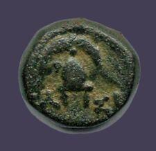 Archaios   Greek Macedon Demitrios II Aetolicus Shield / Helmet BA-ΣI, AE   RARE