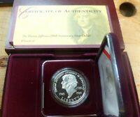 1993 Thomas Jefferson Silver Proof Commemorative Dollar US Mint  J250P