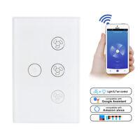 Smart WiFi Ceiling Fan Light Lamp Switch In-Wall For Alexa Google Home Assistant