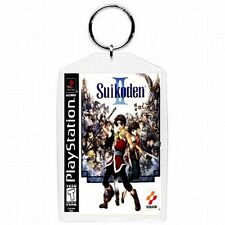 Playstation one 1 PS1 SUIKODEN II   Video Game Classic Box Cover Keychain