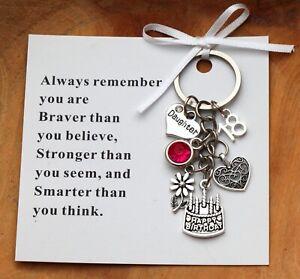 Personalised Birthday Gift keyring mum Daughter Sister Nana-18th 21st 30th 40