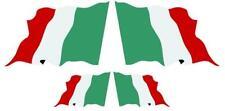 Agitando bandera italiana Italia Pegatinas de vinilo X 4 Calcomanía tricolor Auto Adhesivo