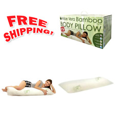 Hypoallergenic Aloe Vera Bamboo Memory Foam Full Body Pillow for Adults-by Goza