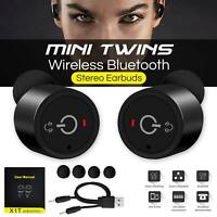 Twins Bluetooth True Wireless 4.2 Headphones Earbuds Stereo Earphone Headset