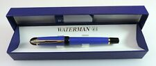 Waterman Phileas rollerball pen, blue, black and golden trims