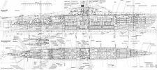 U-BOAT TYPE XXI GERMAN SUBMARINE DETAILED PLAN KRIEGSMARINE UNTERSEEBOOT 1944