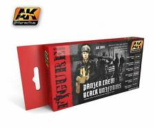 Ak Interactive AKI 3001- Figure Series Panzer Crew Black Uniforms Paint Set