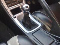 Bleu Coutures Véritable Daim Manual Gear gaiter Fits Audi A3 8P 2004-2012