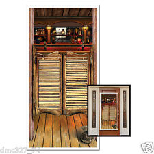 Western Cowboy Wild West Party Decoration Prop SALOON Wall DOOR COVER 30in x 5ft