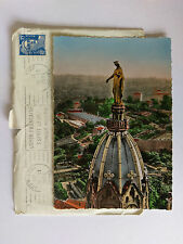 Lyon Vintage colour Postcard & envelope 1954 Chapelle de Fourviere