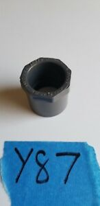 """Lasco PVC 1"""" X 3/4"""" Reducer Bushing Spigot X Slip SCH80 PVCI 837-131 NSF-PW"""