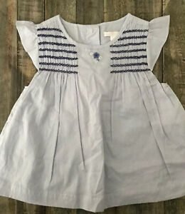 NWT JANIE & JACK Lavender Smocked Embroidered Top Shirt size 3 $36