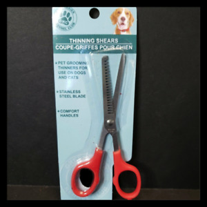 "Kennel Club Dog Cat Stainless Curve Tip 6"" Pet Grooming Scissors Red"