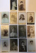 14 x Lovely Vintage Antique Victorian CDV Photographs Photo Women Females Ladies