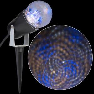 Gemmy LED Lightshow Projection Swirl WHITE BLUE Christmas Light