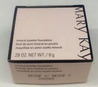 Mary Kay Mineral Powder Foundation BEIGE 2 Pink Box NIB Amazing !