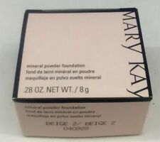 Mary Kay Mineral Powder Foundation BEIGE 2 Pink Box NIB Amazing !