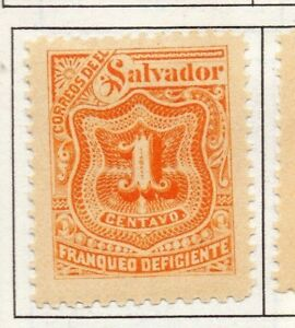 El Salvador 1899 Postage due  Issue Fine Mint Hinged 1c. 141203