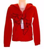 Bnwt Women's Firetrap Christina Stretch Zipped Hoodie Sweatshirt Jumper Red New