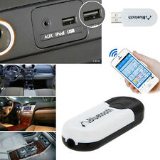 2 in 1 Bluetooth V4.0 USB Dongle A2DP Audio Receiver Adapter + Audio Cable Black