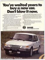 1990 SAAB 9000 advertisement, Saab 9000 Turbo, white sedan