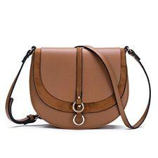 Women Crossbody Bag Saddle Shoulder Bag Small Purse Hasp Satchel Tote Leather