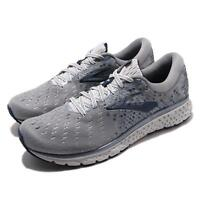 Brooks Glycerin 17 2E Wide Grey Navy White Men Running Shoes Sneakers 110296 2E