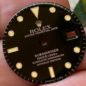 ROLEX SUBMARINER 16803 16808 NOS BLACK T VINTAGE DIAL 100% GENUINE NEW OLD STOCK