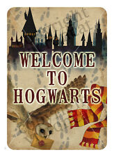 Harry Potter Welcome to Hogwarts Print Party Decoration Unique Design -approx A4