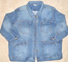 Denim Jacket Women's 5X Denim Pockets Blazer Woman Within New