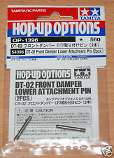 Tamiya 54396 DT-02 Front Damper Lower Attachment Pin (2 Pcs.) (DT02/DT02MS), NIP