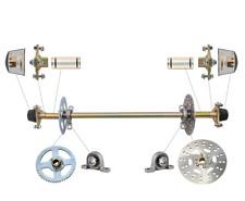"740mm 29"" Kids Go Kart Rear Axle Kit Complete Wheel Hub Set f 50cc -90cc Atv Diy"