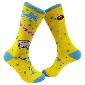 Vodka Made Me Do It Socks Funny Novelty Crazy Gift for Him Cool Saying Funky