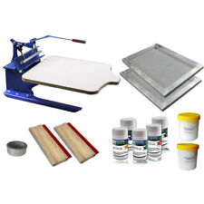 1 Color Screen Printing Press Materials Kit Press Printer DIY Press Tools New