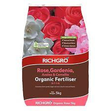 Richgro ORGANIC FERTILISER 5kg Rose, Gardenia, Azalea & Camellia Aust Brand
