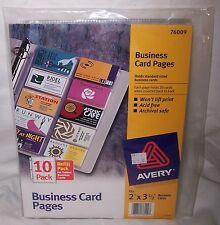 Avery Business Card Pack Of 10 Safe Archival Convenient Storage 76009 2 x 3.5