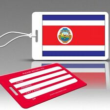 TagCrazy Luggage Tags, Costa Rica National Flag, Durable Plastic Loops-1 Pk