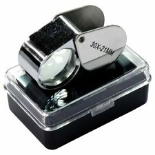 30x 21mm Jewelers Loupe Magnifying Glass US FAST FREE SHIPPING IN ONE BIZ DAY