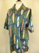 Mens L Vtg 1980s Hawaiian Reserve Collection Shirt Hawaiian 100% Silk Surf Board