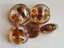 4 GALETS perles 17x9mm METAL ARGENTE DIY Bijoux Déco MA279