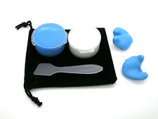 MOTORBIKE CUSTOM MOLDED EARPLUGS 2-3 PAIR SET+FREE CASES,STORAGE POUCH & SPATULA
