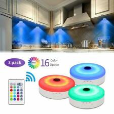 Bason Puck Lights with RemoteUnder Cabinet led LightingRgb Wireless Rechargea.