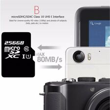 New SD Storage Card 256GB Micro SD SDHC Class 10 TF Memory Card For Cell Phone