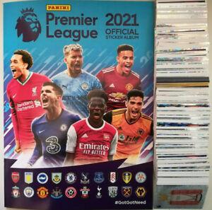 Panini Premier League 2021 Sticker Collection Set of 642 stickers & Album 20/21